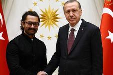 Erdoğan Külliye'de Aamir Khan'ı kabul etti