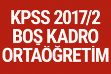KPSS 2017/2 tercih kılavuzu ortaöğretim boş kadro başvuru ekranı