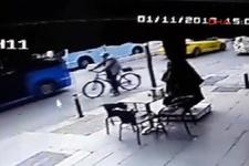 Hafriyat kamyonu bisikletliyi ezdi! O anlar kamerada