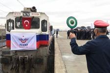 Demir İpek Yolu'nda Türkiye'den ilk tren
