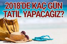 2018 resmi tatiller kurban bayramı tatiline bakın