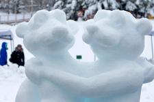 Kiev'de muhteşem buz festivali
