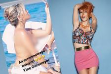 Hande Yener Seren Serengil'in üstsüz çıplak resmini nereden buldu?