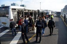 İstanbul'da metrobüsler çarpıştı yaralılar var