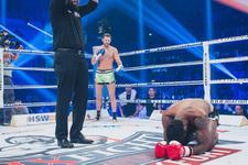 Milli kick boksçu Atakan Arslan rakibini nakavt etti
