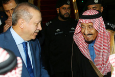 Kral Selman Erdoğan'ı bizzat karşıladı işte o anlar