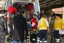 El Bab'da askeri araç devrildi yaralı askerler var