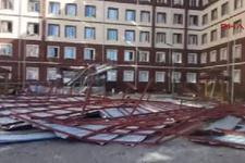 Kız öğrenci yurdunun çatısı uçtu