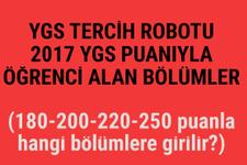 YGS 2017 tercih robotu 200-250 puanla hangi bölüme girebilirim?