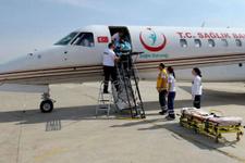 Ambulans uçak kalp hastası bebek için havalandı