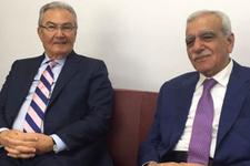 Deniz Baykal'ı Mardin'de Ahmet Türk karşıladı