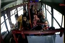 Bayılan yolcunun otobüsle hastane yolculuğu araç kamerasında