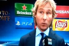 TRT spikeri Nedved'le İtalyanca konuşamadı