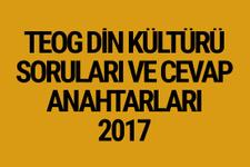 TEOG Din soruları 26 Nisan 2017 cevap anahtarları EBA
