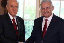 Başbakan Yıldırım ve Bahçeli'den sürpriz buluşma