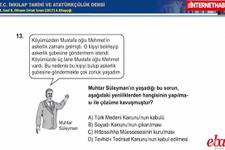 TEOG 2. dönem İnkılap Tarihi ve Atatürkçülük soruları 2017 çözüm videoları