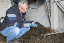 60 bin solucanla organik gübre üretiyor