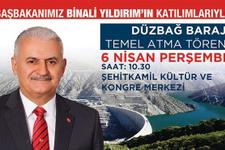 Gaziantep Düzbağ'ın temelini Başbakan Yıldırım atıyor