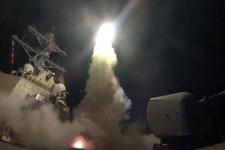 ABD savaş gemileri Suriye'yi işte böyle vurdu ilk görüntüler