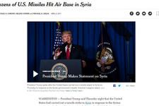 ABD basını Suriye'ye füze saldırısını işte böyle duyurdu