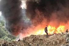 Manisa'da korkutan yangın! Ormana doğru ilerliyor