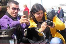 Engelli fotoğraf sanatçısı adayları tarihi mekânları görüntüledi
