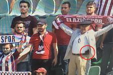 Denizlispor Elazığspor maçına silahla girdi