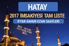 2017 İmsakiye Hatay iftar saatleri sahur ezan vakti