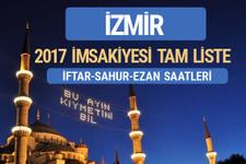 İzmir 2017 İmsakiye diyanet iftar saatleri sahur ezan vakti