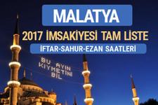 2017 İmsakiye Malatya iftar saatleri sahur ezan vakti