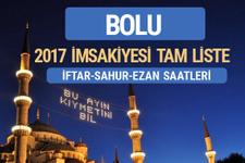 2017 İmsakiye Bolu iftar saatleri sahur ezan vakti