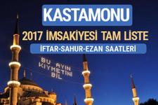 2017 İmsakiye Kastamonu iftar saatleri sahur ezan vakti
