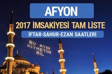 2017 İmsakiye Afyon iftar saatleri sahur ezan vakti