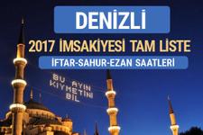 2017 İmsakiye Denizli iftar saatleri sahur ezan vakti