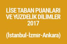 TEOG sonuçları 2017 lise taban puanları tam listesi