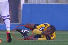 Brezilya'da görev yapan hakemin ayak bileği kırıldı