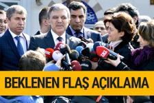 Abdullah Gül'den beklenen son dakika açıklama