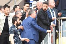 İzmirde Emniyet Müdürü ve taraftar arasında olay çıktı