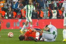 Başakşehirli futbolcunun kolu kırıldı