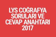 LYS Coğrafya soruları ve cevapları 2017 ÖSYM ais