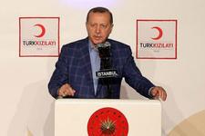 Cumhurbaşkanı Erdoğan'dan Kızılay'a teşekkür