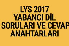 LYS İngilizce-Fransızca-Almanca soruları ve cevapları 2017 ÖSYM ais