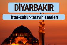 Diyarbakır iftar ve sahur vakti ile teravih saatleri