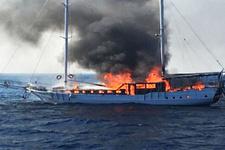 Marmariste yangın, balıkçılar farketti! Bilançosu ise...