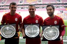 Galatasaray'da 3 yıldıza plaket