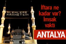 Antalya iftar saatleri 2017 sahur ezan imsak vakti
