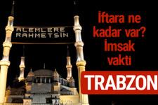 Trabzon iftar saatleri 2017 sahur ezan imsak vakti
