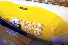 Aykut Kocaman tişörtleri satışa sunuluyor