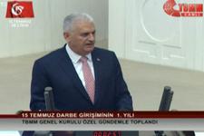 Başbakan Yıldırım'dan '15 Temmuz' konuşması