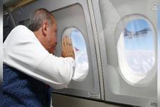 F-16 uçakları, Cumhurbaşkanı Erdoğan'ın uçağını selamladı